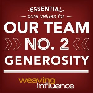 Living Our Core Values: Generosity post image