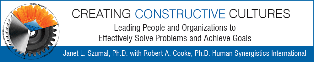 Creating Constructive Cultures - By Human Synergistics